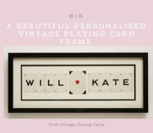 Blogger @champandpetals UK Giveaway: Personalised Vintage Playing Card Frame and Mr & Mrs Bunting – Closes 09/08/2017