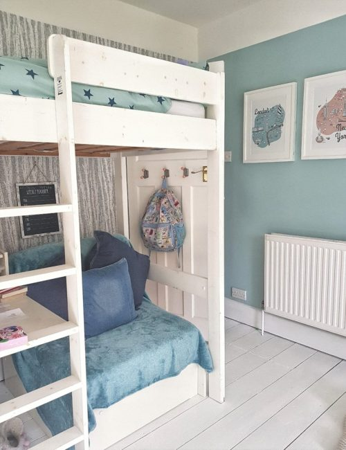 Next bedroom Styleophile Styleophileuk teen room revamp makeover redecorate styling wallpaper nordic trees mineral paint styling interiors