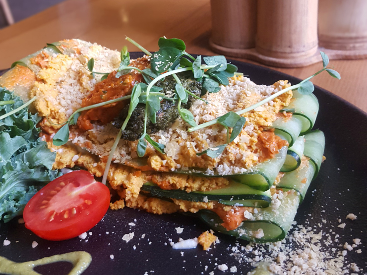 The Beginnings raw courgette lasagne