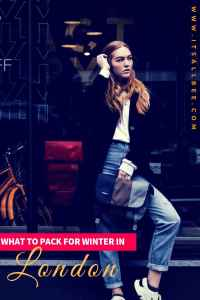 Tips on dressing for winter in London, packing list for London in winter and shoes to wear in London winter