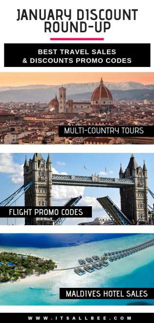 The Best January Travel Discounts & Sales - Flight Promo Codes, Hotel discount Codes - Contiki Tours, G Adventures, Agoda, Hotels, Safari touris and more..
