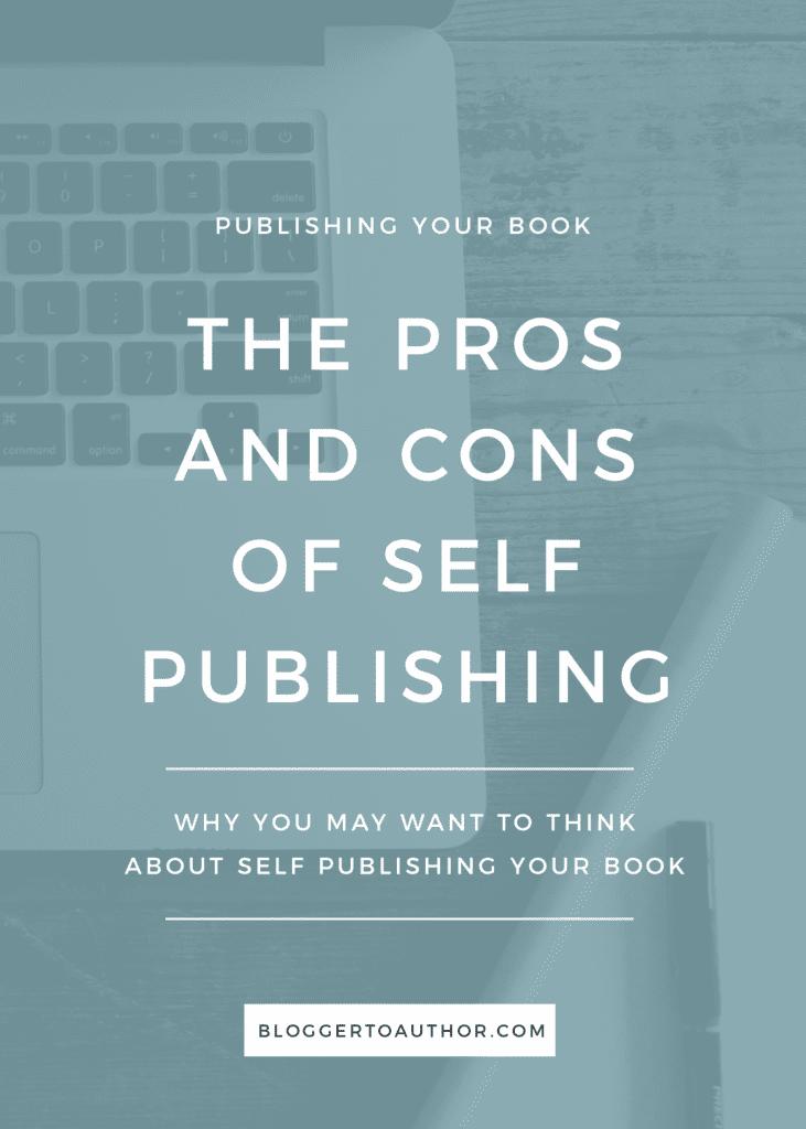 Are you on the fence about whether or not you want to self publish? Be sure you know the pros and cons of self publishing!
