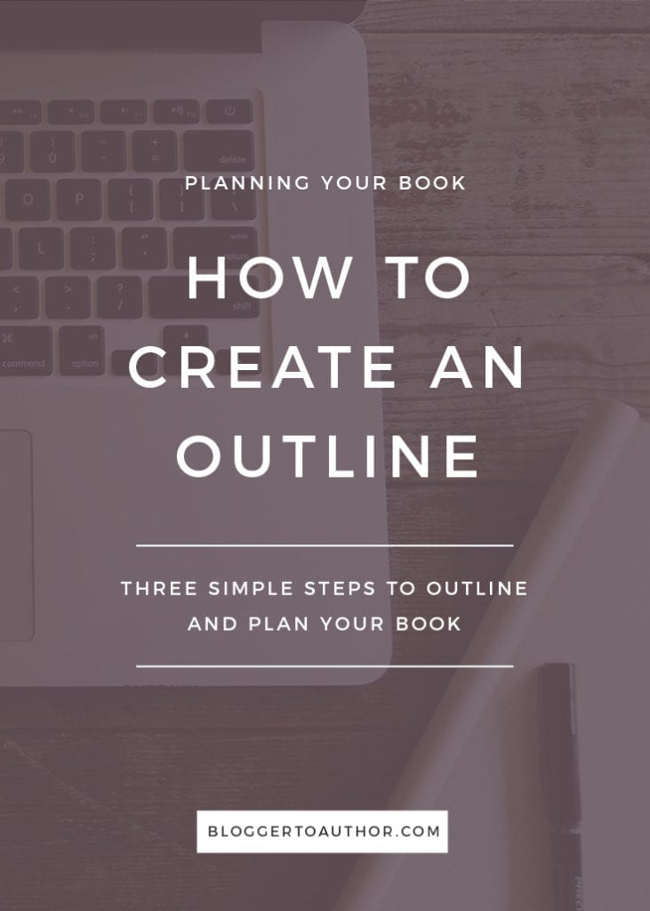 Content creators: are you ready to write a book? Here's how to create an outline for your book so you can stay focused and finish your book faster.
