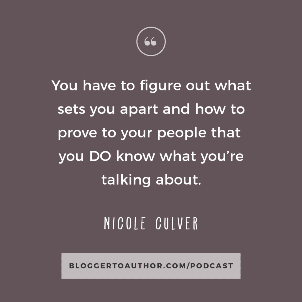 The key to really standing out in your niche is to build your authority. Whether you're a blogger, an author, or an entrepreneur, your authority is the key to having a successful business and platform. But how do you go about becoming an authority in your niche? In this episode, Nicole Culver shares how you can build trust and authority with your audience so you can help more people and grow your business. You definitely don't want to miss this one!
