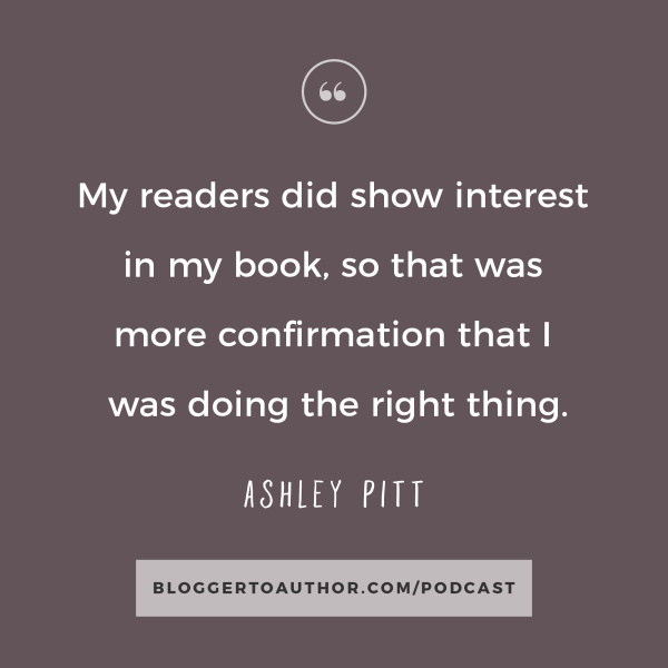 Blogger to Author Podcast Episode 14 with Ashley Pitt