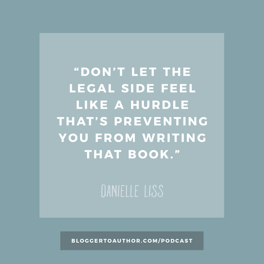 Blogger to Author Podcast Episode 37 - Legal Protection for Authors with Danielle Liss