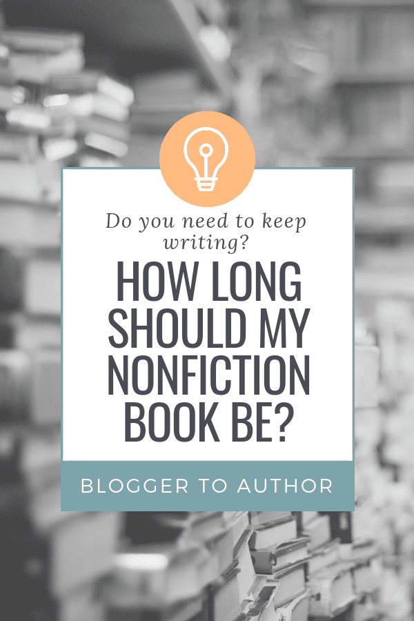 """One of the FAQs I get most often is, """"How long should my nonfiction book be?"""" I'll give you a framework to get the answer for your book + give you the general word count range for several nonfiction genres."""