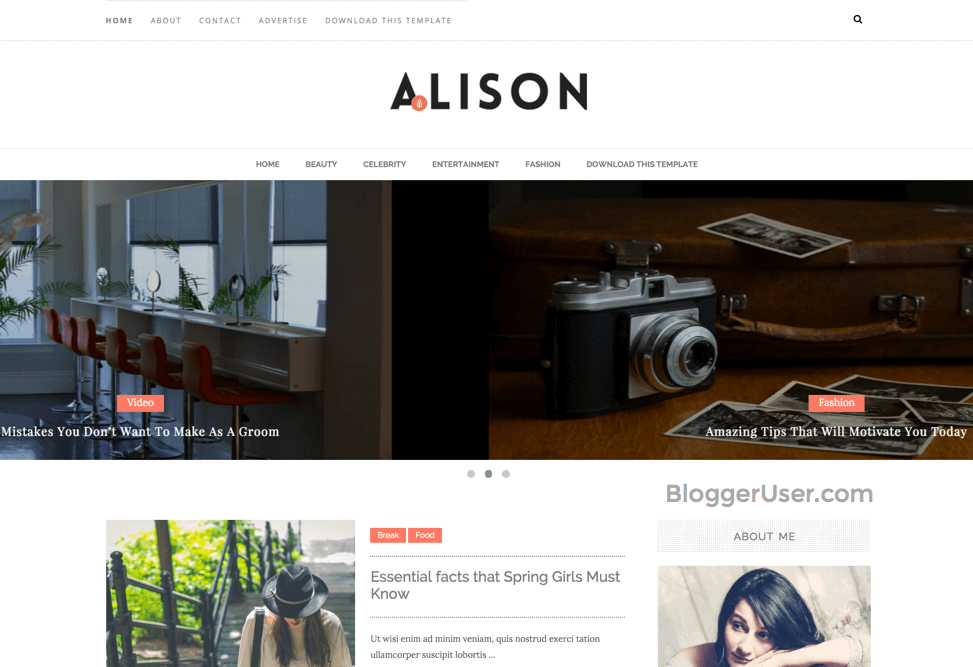 Alison Blogger Template Free Download
