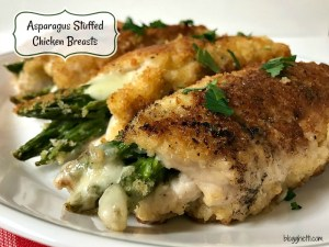These Asparagus Stuffed Chicken Breasts are oozing with provolone cheese and turn out so tender and moist. Simple enough to prepare for any night of the week, yet elegant enough for a special occasion meal.
