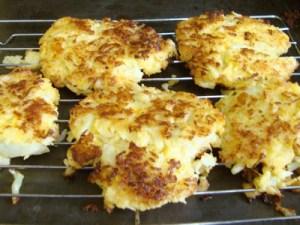 Cauliflower and Cheese Pancakes