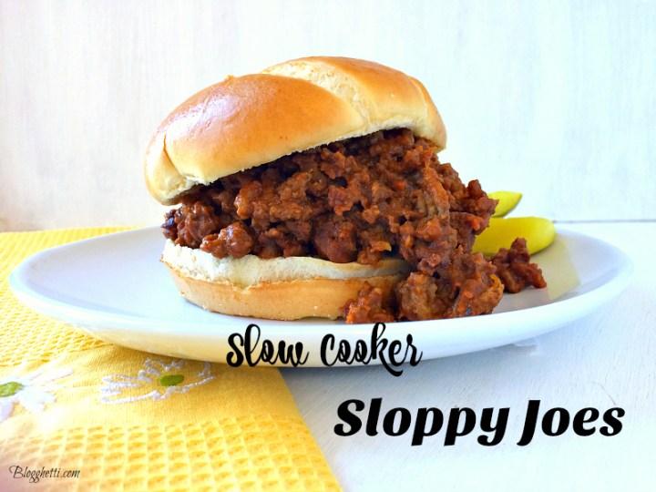 slowcooker sloppy joes