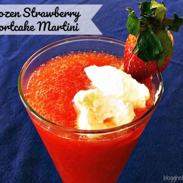 Frozen Strawberry Shortcake Martini