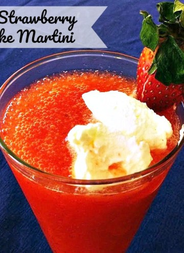 Frozen Strawberry Shortcake Martini