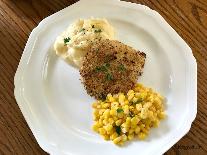 The best oven fried chicken - Crispy seasoned Panko coating on the outside and moist and tender inside. BAKED, not fried which makes clean up a breeze.