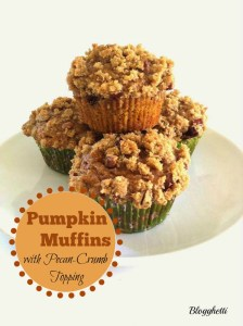 Pumpkin Muffins with Pecan-Crumb Topping