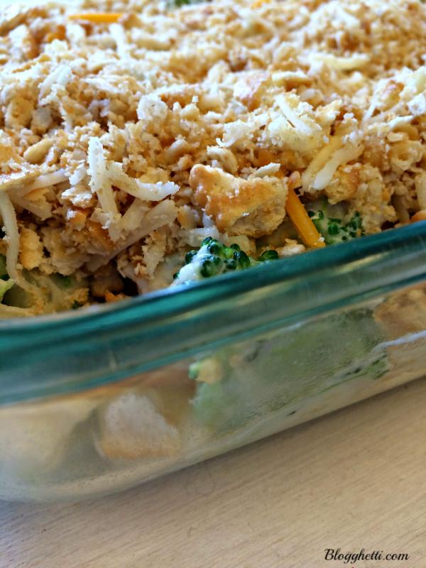 broccoli and cauliflower casserole - before