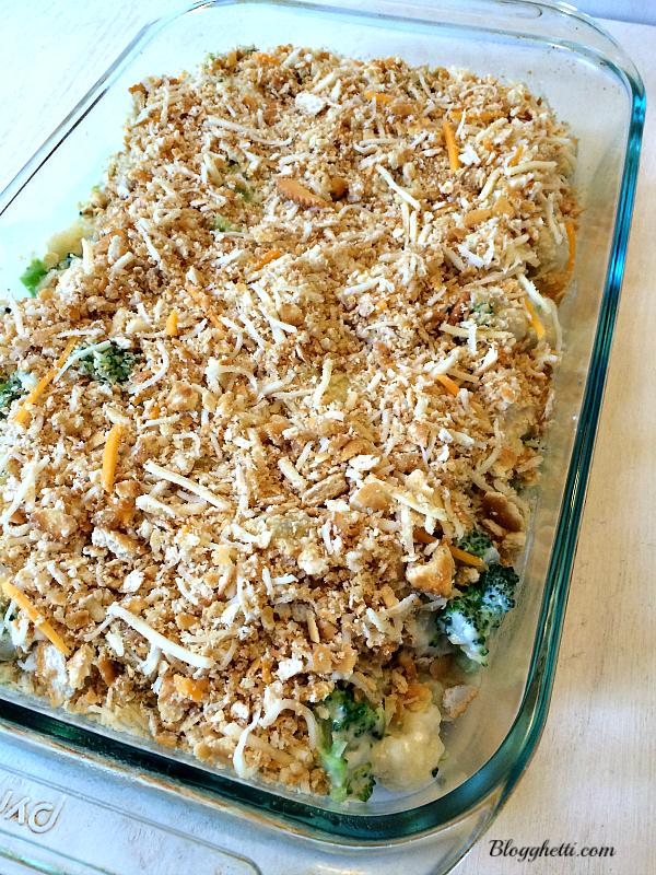 broccoli cauliflower casserole - before