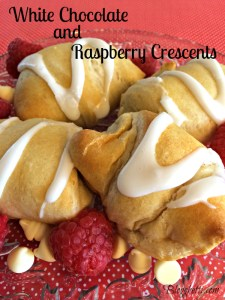White Chocolate and Raspberry Crescents