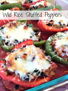 Meatless Mondays – Wild Rice Stuffed Peppers