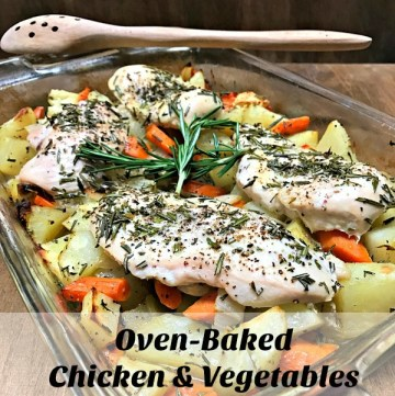 It is perhaps one of my favorite one pan meals. It uses my favorite herb, rosemary and you can't go wrong with potatoes, carrots, and chicken combination.