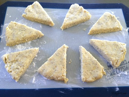 cut scone wedges