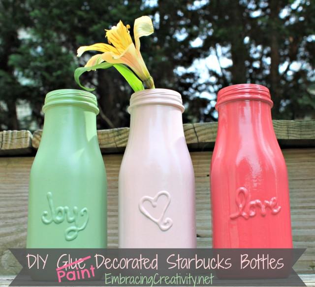 Embracing Creativity DIY-Paint-Decorated-Starbucks-Bottles-