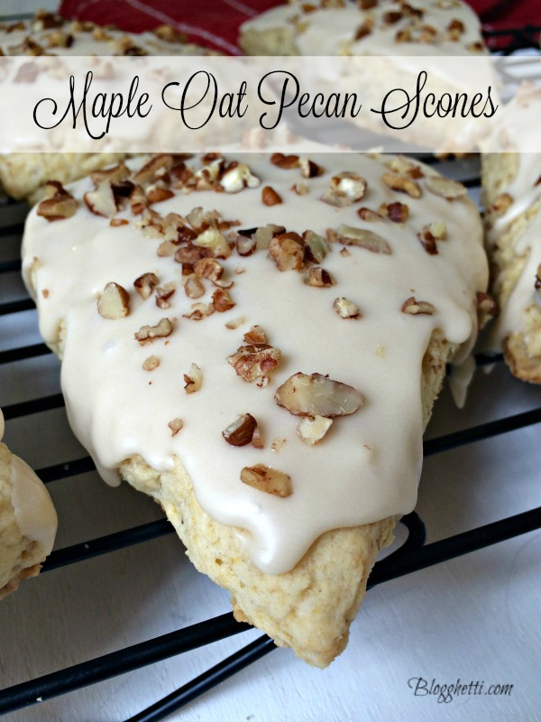 Maple Oat Pecan Scones