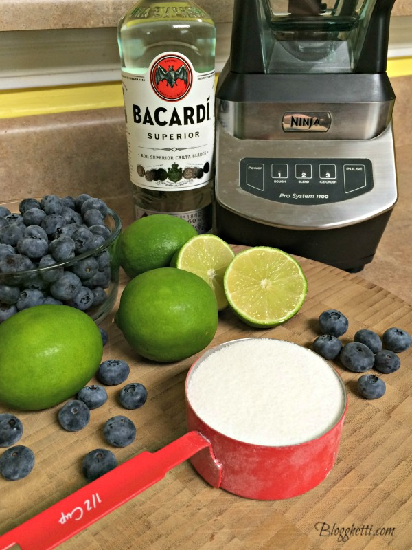 blueberry daiquiri ingredients
