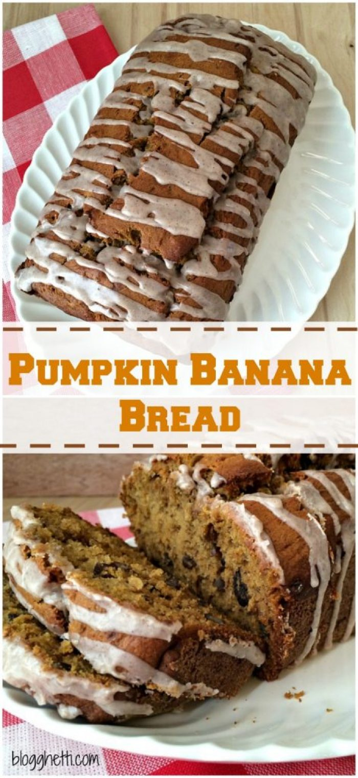 I decided to make this simple and delicious Pumpkin Banana Bread. It combines my two favorite sweet breads with a spiced glazed that deepens the flavors of the bread.