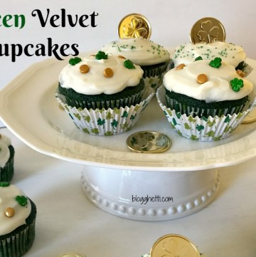 A green twist on the the classic red velvet, these Green Velvet Cupcakes with a homemade cream cheese frosting are perfect for your St. Patrick's Day celebrations. The cupcakes are made from scratch with a no-fail cake recipe.