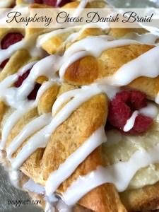 Raspberry Cream Cheese Danish Braid