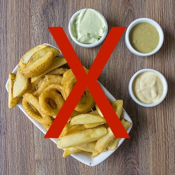 Eating healthy doesn't mean you have to give up the fast food sides like french fries, onion rings and cheese sticks. Here are a few ways to lighten up fast food sides by cooking them at home and as a bonus, it'll be cheaper too!
