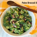 This Broccoli Salad recipe is a lightened-up version of the classic salad. A tasty side dish or a light lunch, this salad will be a winner plus it's Paleo-friendly and gluten-free.