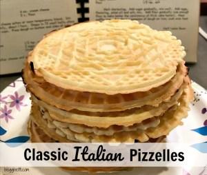 Classic Italian Pizzelles