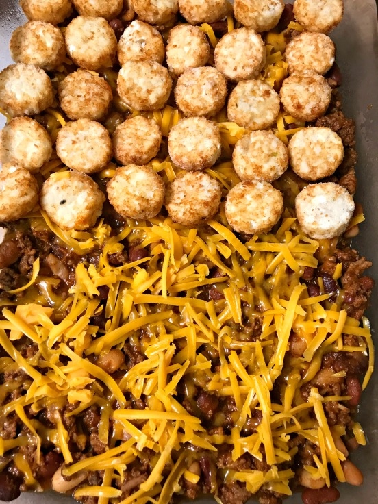casserole prep for tator tot sloppy joe casserole