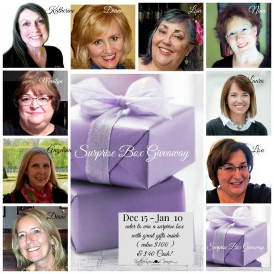 Katherine's Corner Annual Season of Giveaways is coming to an end and once again, I am joining my sweet friend, Katherine and a few other wonderful bloggy friends to bring you this Surprise Box Giveaway!