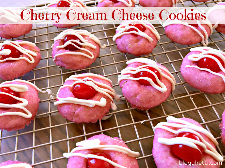 Cherry Cream Cheese Cookies Cooling