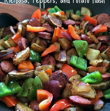 Kielbasa Peppers and Potato Hash