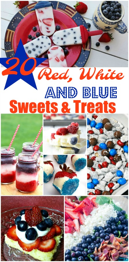 20 Red, White, and Blue Sweets and Treats