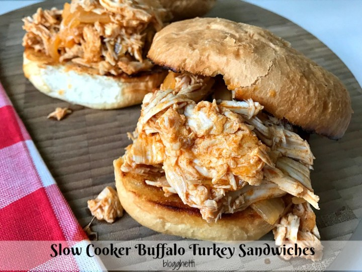 Slow Cooker Buffalo Turkey Sandwiches
