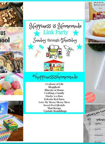 Happiness is Homemade Link Party 189. A place to share great DIY, crafts, home decor, holiday inspiration, recipes and get wonderful ideas for your home. #HappinessIsHomemade #LinkParty #homemade #DIY #Recipes