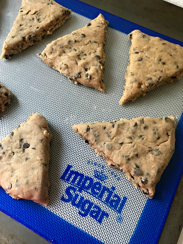 Chocolate Chip Scones ready to bake