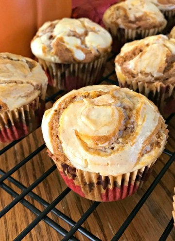 Pumpkin Spice Cream Cheese Muffins - feature