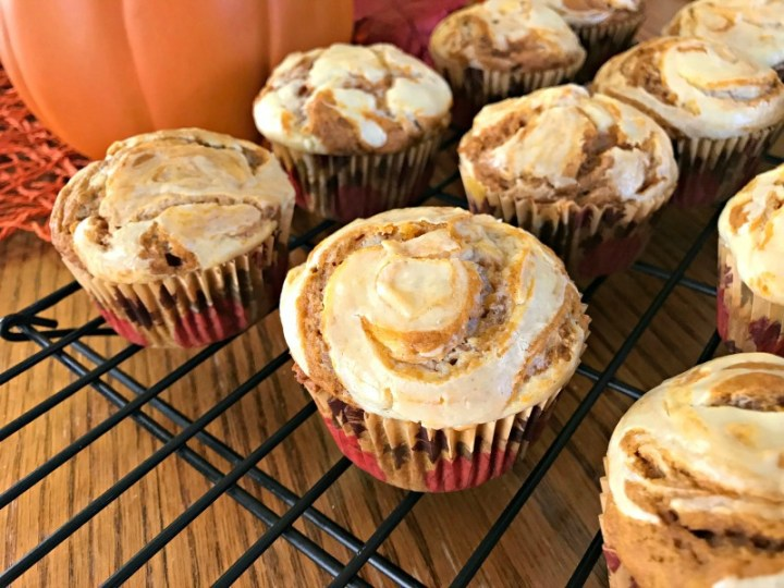 Pumpkin Spice Cream Cheese Muffins - feature