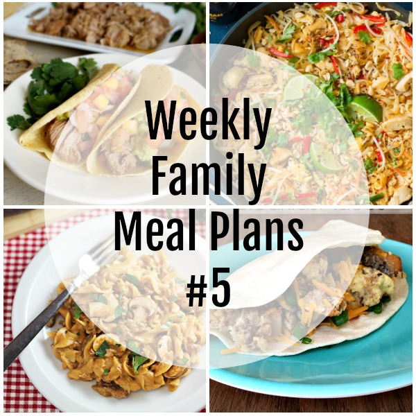 Weekly Family Meal Plans #5 - square