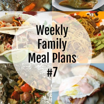 Weekly Family Meal Plans #7 - square