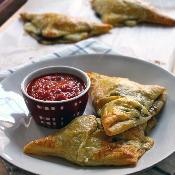 Spinach and Mushroom Calzones