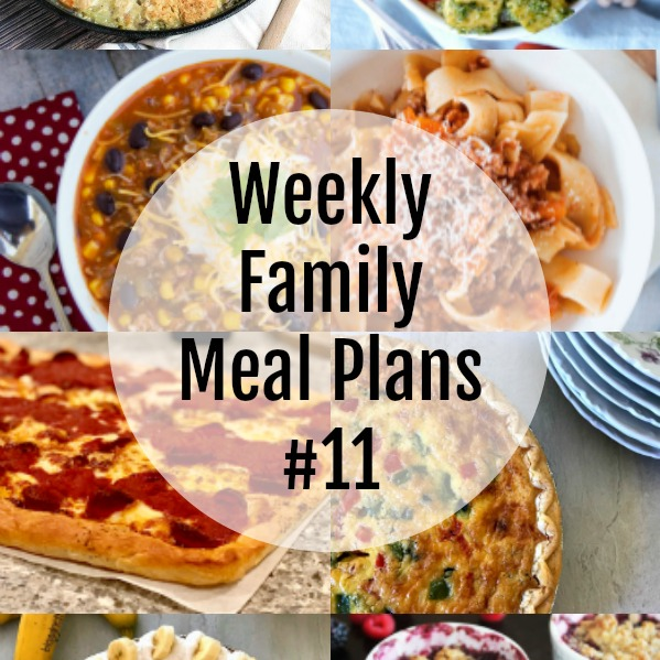 Weekly Family Meal Plans #11