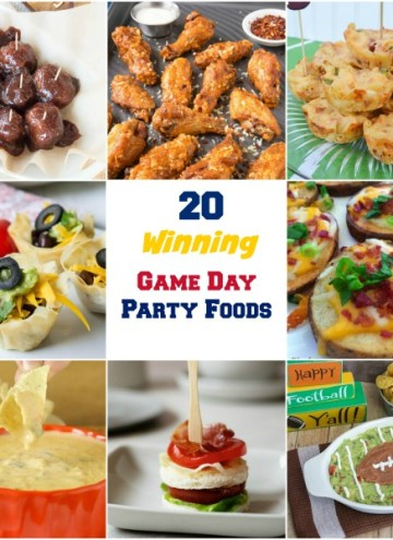 Game Day isn't complete without party food. These 20 Winning  Recipes for Game Day Party Food are easy to make and delicious. Your guests will love them! #footballfood #gameday #roundup