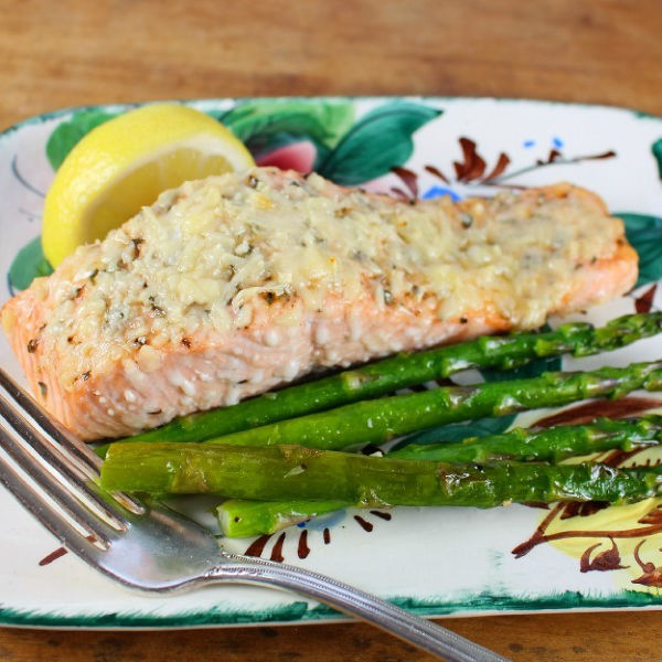 Lemon Parmesan Baked Salmon from Palatable Pastime